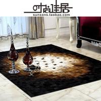 2014 new high quality custom luxury leather living room coffee table carpet tile carpet rug den OEM