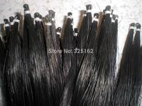 100 Hanks Violin bow hair(50 black & 50 white bow hair), 32 inches 6 grams each hank
