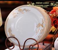 Jingdezhen ceramic plate 8 dinnerware set swan lake 8 dish single deep dish