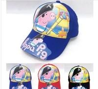 5pcs/lots  2014 NEW hotsale  Peppa Pig baseball  hats/caps  for children