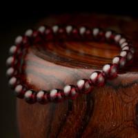 High Quality Wholesale bangle 7.5 mm natural precious stone charming fasional garnet bracelet