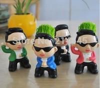 G15 Psy nocel  fashion Fair Man plant/DIY Grass planted with pot