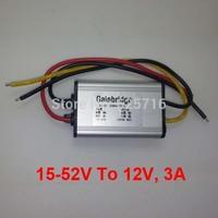 24V 36V 48V DC TO 12V DC Converter, 15-52V step down to 12V, 3A, 36W, Power converter