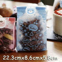 Blue RuRu cartoon pattern open top food Wrap bags 22.3cmX8.6cm X5.8cm