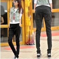 Spring and autumn denim harem pants female skinny trousers casual loose harem plus size 26-35 Large B0388