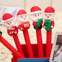cartoon polymer clay pen small gift snowman pen child stationery ballpoint pen
