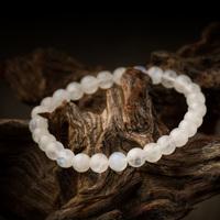 High Quality Wholesale bangle 7 mm natural precious stone charming fasional moonstone bracelet