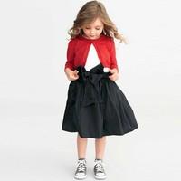 2014 Faction Brand Design 100% Cotton Children Girl Open Stitch Sweater Single Breasted GIrls Kintwear Coat Free Shipping