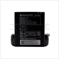 2000mAh BL212 cell mobile phone bateria For Lenovo S898T A708T A620T battery free singapore air shipping with retail package