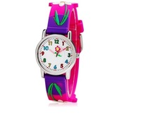 Beautiful Flower Print Cartoon Children's Analog Watch Free Shipping