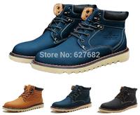 Retro Men's Winter England Fashion Riding Fishing Rubber Bota Villus Genuine Leather Shoes Hunting Hunt Snow Warm Boots 38-44
