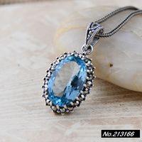 925 Pure Silver  Thai silver.Topaz. Citrine. Compact fashion. Ms. New Pendant xh044703w