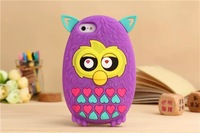 newest 3D carton cover case cute Furby  Case Cover For iphone5 5s  shipping MOQ:1pcs