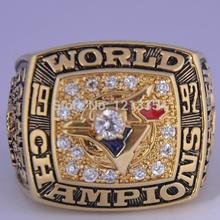 MLB Toronto 1992 world series ring tin alloy Czech diamond