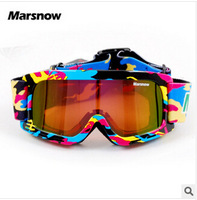 2015 Promotion boy and girl Ski Goggles Multi Color double Lens UV-Protection Winter Snow Children's Goggles Child Glasses