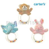 3pcs/lot carter rattles handbell Newborn gift learning baby toys rattles plush Mobiles bell circle shakers rings sensory