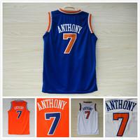 Kids New York 7 Carmelo Anthony Basketball Jerseys Youth New Material REV 30 Boys Basketball Jerseys Basket Camisetas basketball
