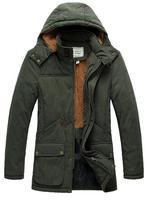 2014 Men's Hooded Coat Jackets Outwear Man Fashion Parkas Napka Jaqueta Male Jaquetas Thick Jacket COAT-282470