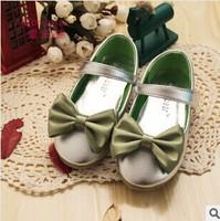2014 New! Children Girls Shoes Korean Girls Microfiber PU Leather Shoes Baby Girls Flower Princess  kids Shoes D03-A104