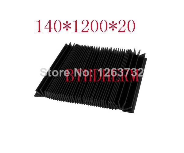 Flexible Organ Shaped Black Plastic Dust Cover for CNC Machine(China (Mainland))