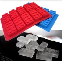 Free Shipping 400PCS/LOT FDA LFGB Building Brick Ice Tray Mold Silicone Ice Cube Tray Brick Block