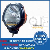 """8 Pcs 55W 7"""" Spot beam & Flood beam 100W HID 12V 8000 Lm HID Driving light, HID spot light, HID offroad 4x4, hid headlight ,boat"""