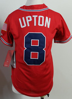 Cheap Sale,kids #8 Justin Upton Youth Red 2014 New Baseball Jerseys wholesale Accept Mix Order