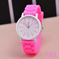 New Fashion GENEVA Watches silicone watches For Women Dress Watches Quartz Watches