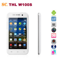 Free shipping 4.5 inch 8.0MP Camera THL W100S Android 4.2 Smart  Phone Quad Core MTK6582M Android 4.2 1GB 4GB Dual SIM WCDMA