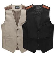 2014 New Fashion  Men's Vest Male Slim fit Vest Men Cotton Clothing beckham men vest colete masculino terno men chalecos