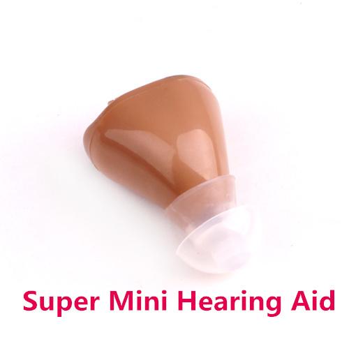 Super Mini Hearing Aid Aids Volume Adjustable Sound Voice Amplifier device low noise Ear care 3*Earplug K-82(China (Mainland))