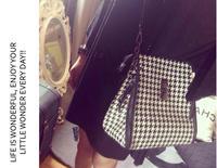 2014 New Fashion High Quality Leather Shoulder Bag Women Famous Brand Designer Leboy Chain  Classic Quilted Plaid Shoulder Bag