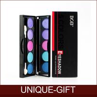 Rosalind New 2015 Free Shipping Professional Makeup Eyeshadow 5 Colors Eye Shadow Powder Metallic Shimmer BOB Warm Color Set