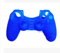 2X Blue Silicone Protective Skin Rubber Case Cover for PS4 Controller housse en silicone pour ps4 etui de protection