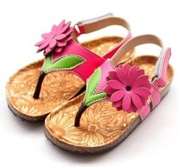 Hot-selling 2014 female child sandals shoes sandals pu leather slippers
