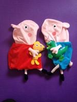 Free shipping peppa pig family plush doll skin, George peppa pig plush toys baby Christmas gift, large peppa skin 70cm