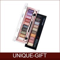 Rosalind New 2015 Free Shipping Professional Makeup Eyeshadow 10 Colors Eye Shadow Powder Metallic Shimmer BOB Warm Color Set