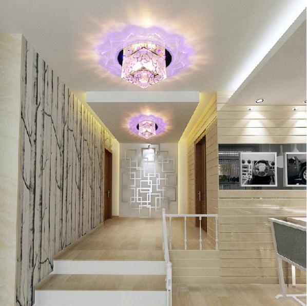 3W living room lights modern crystal ceiling light indoor corridor lighting acrylic hallway lamp AC200-240V abajur luminarias(China (Mainland))