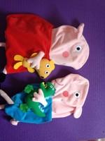 40cm Peppa Pig plush toys skin, peppa pig family toy, George plush dolls, baby birthday gift, Free Shipping