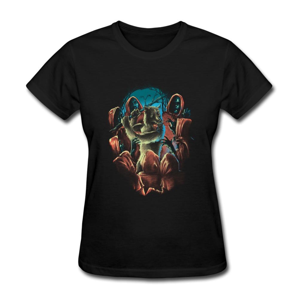 Custom Short Sleeve Women T Shirt wolf nightmare Music Union TShirts Women Short-Sleeve(China (Mainland))