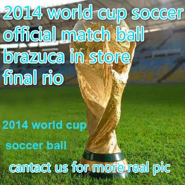 2014 Brasil world cup anti-skidding surface soccer football official match ball final rio Brazuca FUSSBALL bolas de futebol(China (Mainland))