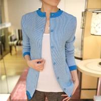 cardigan women striped tricotado cardigans crochet sweater coat casaco de la feminino casaquinho blusas femininas de inverno