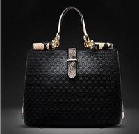 Designer Handbags High Quality 2015 Genuine Leather +High-grade pu Women Messenger Bags Fashion shoulder bags For Women