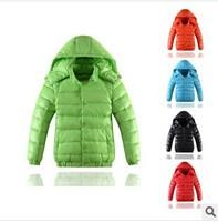 Children Down & Parkas Coat  2014 New Winter Children Clothing White Duck Down Cotton-padded Jacket Girls / Boys Down Outerwear