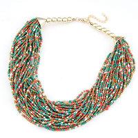8 COLORS 2014  New Fashion Women Jewelry  Bohemian Colorful Bead Necklaces & Pendants Choker Necklace