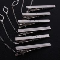 Via Fedex/TNT, 140 Designs Simple Men Tie Clips Necktie Silver Tone Metal Clamp Jewelry Decor, 500pcs