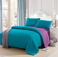 Solid color piece bedding set bed sheets duvet cover 100% cotton four piece set student single bed piece set 100% cotton