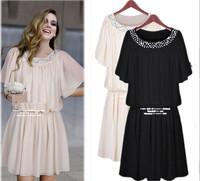 new summer dress 2014 women casual dresses roupas femininas saida de praia Set auger plus size desigual dress L-4XL best quality