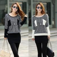batwing sweaters 2014 women fashion tricotado t-shirt women tricot pullovers sweater women knitted loose sweater winter