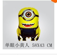 10pcs/lots wholesales Despicable Me Minions balloon cartoon wedding balloon Foil balloon,party decorate Free shipping